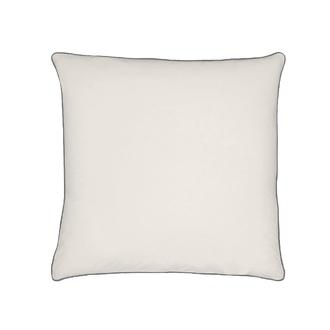 Taie d'oreiller percale finition passepoil ivoire 65x65cm