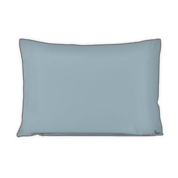 Federa in cotone percalle blu azzurro 50x70