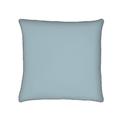 Federa quadrata in cotone percalle blu azzurro 65x65