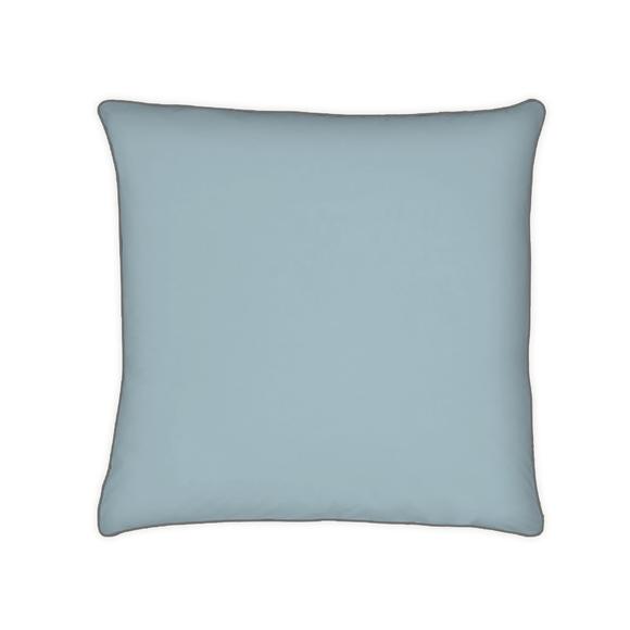 acquista online Federa quadrata in cotone percalle blu azzurro 65x65