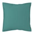 Federa quadrata in cotone percalle blu petrolio 65x65cm