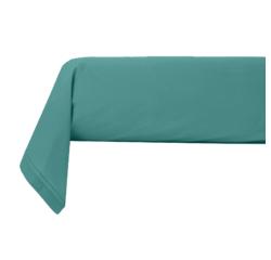 Achat en ligne Taie de traversin en percale avec bourdon bleu paon 44x185cm
