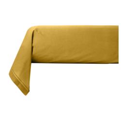 Achat en ligne Taie de traversin percale avec bourdon jaune curry 44x185cm