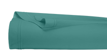 Achat en ligne Drap plat en percale avec bourdon bleu paon 270x300cm