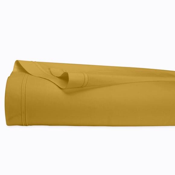 acquista online Lenzuolo matrimoniale king size in cotone percalle giallo curry