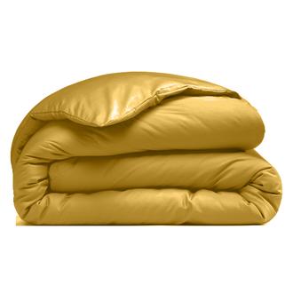 ZODIO - Housse de couette en percale curry 260x240cm