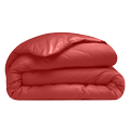 Copripiumino singolo in cotone percalle rosso