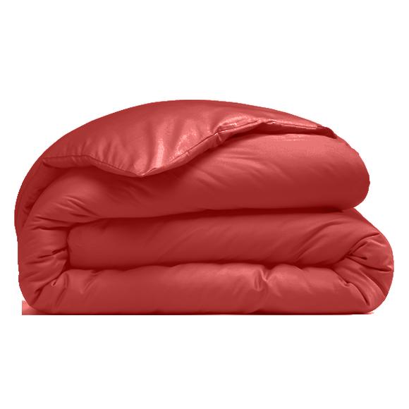 acquista online Copripiumino singolo in cotone percalle rosso