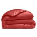 Copripiumino piazza e mezza in cotone percalle rosso