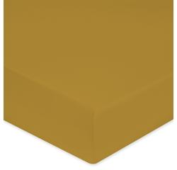 compra en línea Sábana bajera para colchón grueso mostaza (160 x 200 cm)