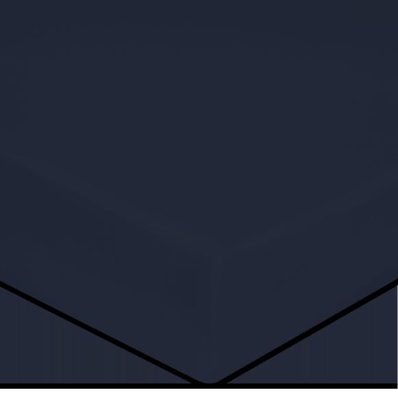 Lenzuolo con angoli piazza e mezza in cotone percalle blu