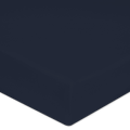 Lenzuolo con angoli singolo in cotone percalle blu