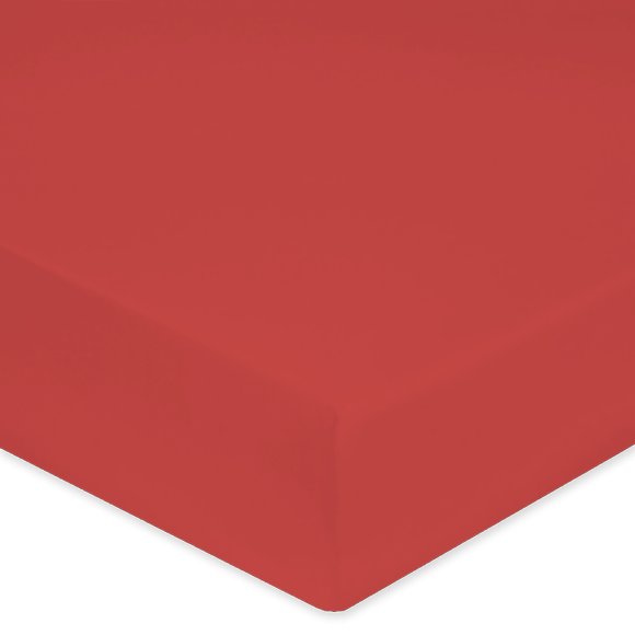 Lenzuolo con angoli matrimoniale king size in percalle rosso