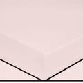Lenzuolo con angoli piazza e mezza in cotone percalle rosa