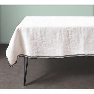 Nappe 150x150cm en coton rose pâle pure