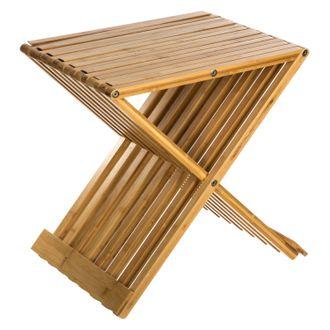 Tabouret bambou pliant