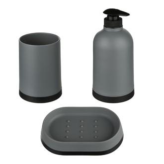 Set de 3 accessoires à poser gris