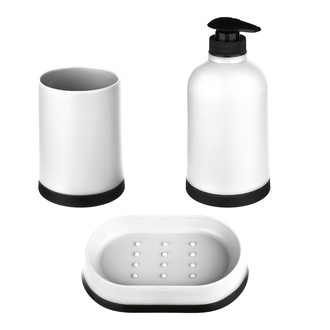 Set de 3 accessoires à poser blanc