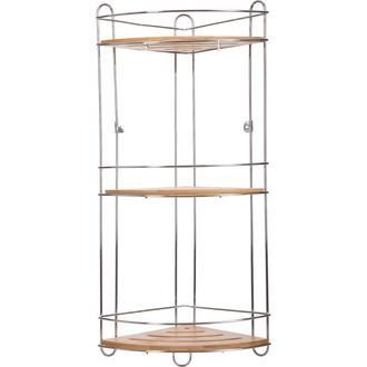 Etagère trois plateaux métal et bambou