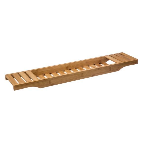 Pont de baignoire en bambou