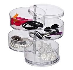 Achat en ligne Rangement maquillage 4 disques pivotants acrylique