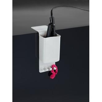 Porte fer à lisser en silicone blanc thermostatique