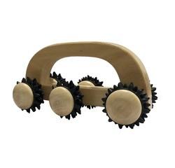 acquista online Rullo massaggiatore in legno a 6 rotelle