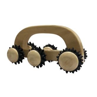 Rouleau de massage en bois 6 roulettes