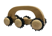 Achat en ligne Rouleau de massage en bois 6 roulettes