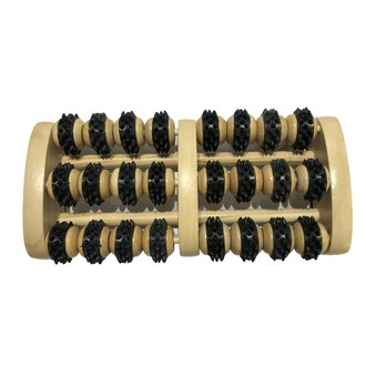 Masseur de pied en bois noir 24 roulettes