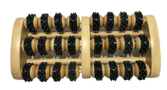 Achat en ligne Masseur de pied en bois noir 24 roulettes