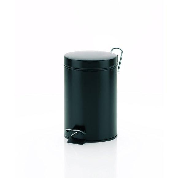 Poubelle graphit noir mat 3L