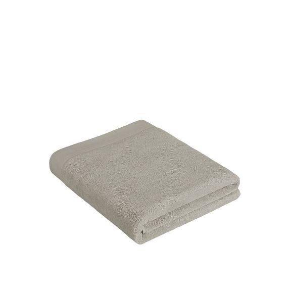 Asciugamano bagno in cotone beige 100x150cm