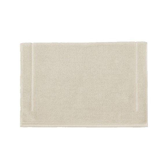 Tappeto da bagno quadrato in spugna di cotone beige 60x60