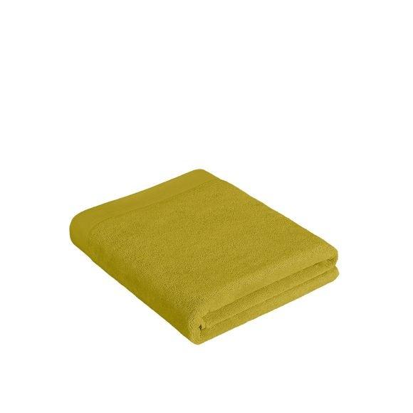 Asciugamano bagno in cotone giallo verde 100x150cm