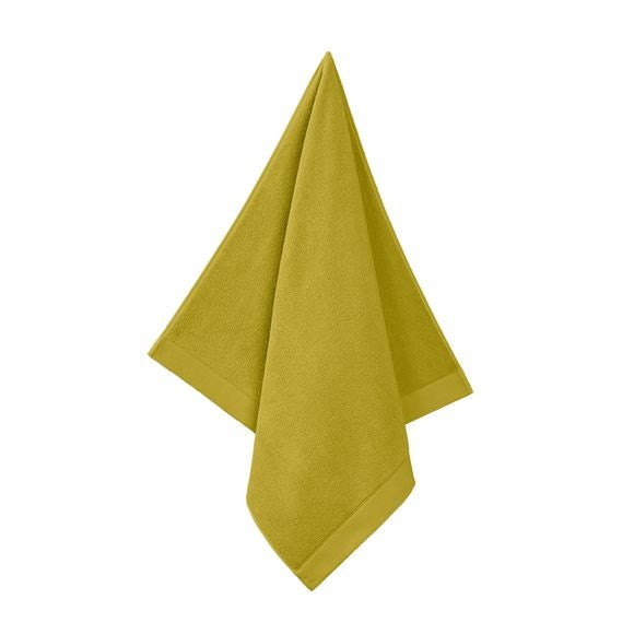 Serviette de douche en coton éponge warm olive 70x140cm