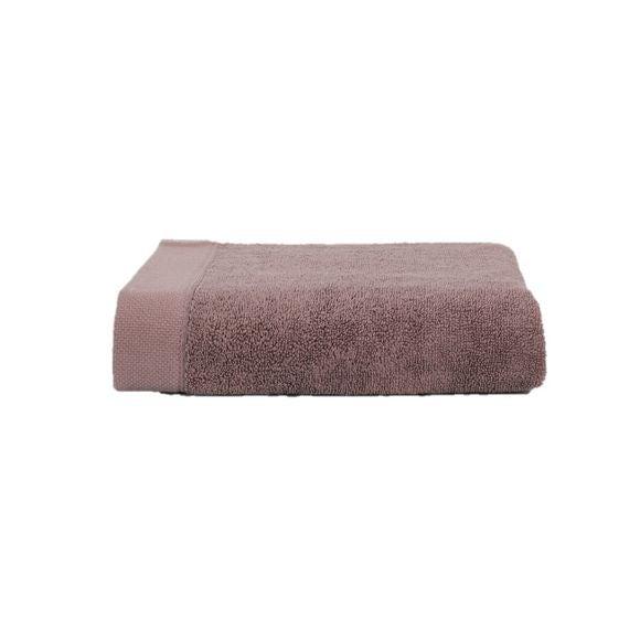 Asciugamano ospite in cotone rosa malva 30x50cm