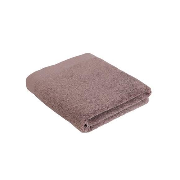 Asciugamano bagno in cotone rosa malva 100x150cm
