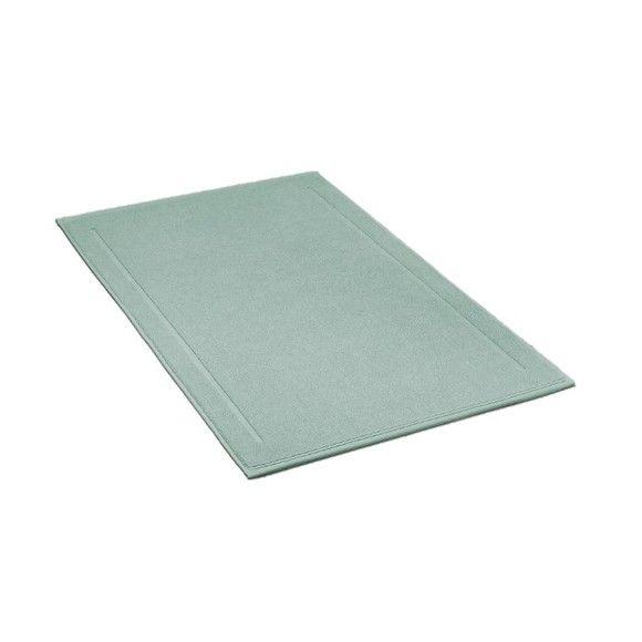 acquista online Tappeto da bagno rettangolare in spugna verde salvia 60x100