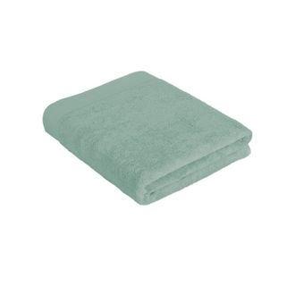 Serviette de bain en coton éponge céladon 100x150cm