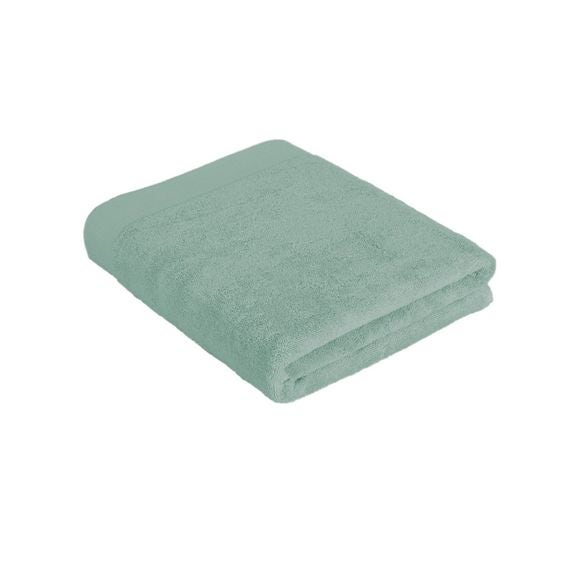 Asciugamano bagno in cotone verde salvia 100x150cm