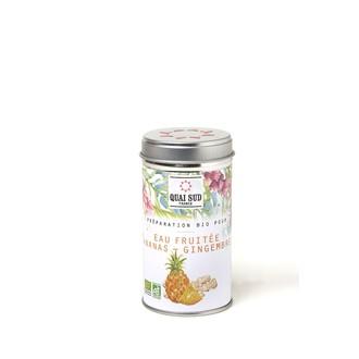 Préparation pour eaux fruitées ananas gingembre