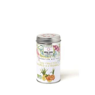 Préparation pour eaux fruitées agrumes-citronelle55g