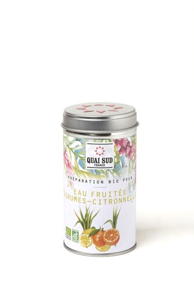 Achat en ligne Préparation pour eaux fruitées agrumes-citronelle55g