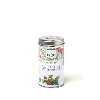Préparation pour eaux fruitées fraise-menthe