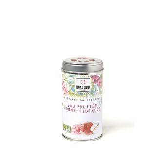 Préparation pour eaux fruitées pomme-hibiscus55g