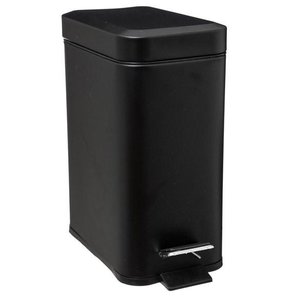Poubelle rectangulaire 5L mat noir