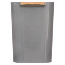 Achat en ligne Poubelle plastique gris 5L avec couvercle bambou