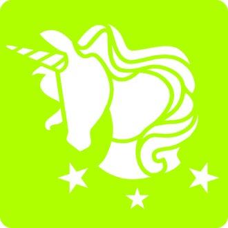 6 pochoirs licorne