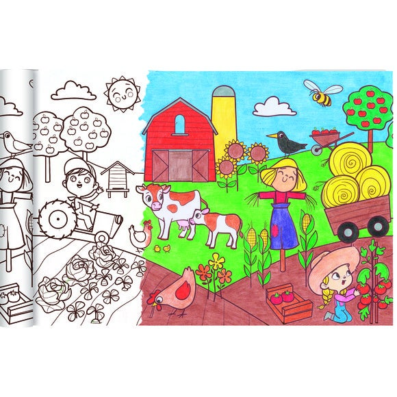 Poster le petit monde agricole 5m